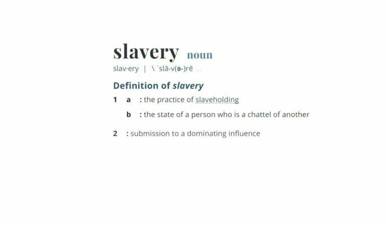 Slavery – Part 1