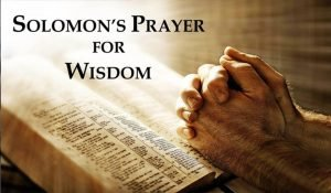 Solomon's Prayer