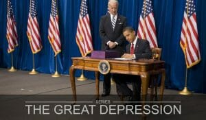 Obama Signs the American Recovery and Reinvestment Act